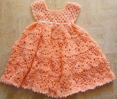 Lovely Shelled Girl's Dress - Free Pattern