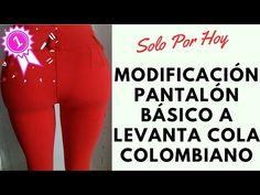 COMO TRAZAR PATRÓN BÁSICO DE PANTALÓN LEVANTACOLA O ANATÓMICO - YouTube Sewing Clothes, Diy Clothes, Diy Fashion, Fashion Outfits, Fashion Ideas, Sewing Paterns, Only Jeans, Ny Style, Short Jumpsuit