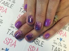 Cheetah with ombre Nailart.