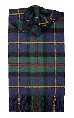 """Lochcarron MacLeod of Harris Tartan Lambswool Scarf. 12"""" x 60"""" or 30 x 152 cms including rolled fringe. 4oz / 100g. 100% Pure Lambswool. Made in Scotland by Lochcarron of Scotland. Dry Clean: Yes Machine Washable: No."""