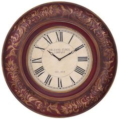 I pinned this Sisley Round Clock in Distressed Merlot from the All In a Day's Work event at Joss and Main!