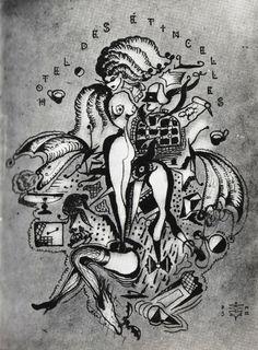 Illustration pour Hôtel des étincelles,  Poème d'André Breton Pierre Molinier Photomontage, Illustrations, Art Work, Ideas, Stone, Drawing Drawing, Work Of Art, Illustration, Art Pieces
