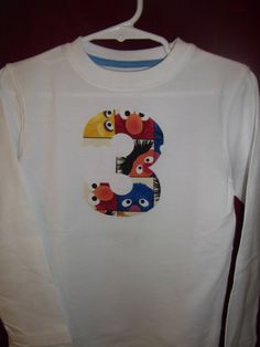 Birthday Shirts with Sesame Street Elmo Big Bird by lisalynnitems, $15.00
