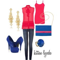 Color blocking, created by dadada20 on Polyvore