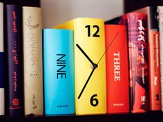 """Book Clock: """"Tick Tock. Tick Tock.  Looks like a book, but is a clock.    It's cute and clever.  A tad tricky, however.    When people see it,  they'll applaud the whit."""""""