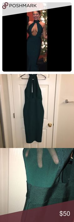 Green Holiday Akira Dress Only worn once for a few hours, great condition. AKIRA Dresses