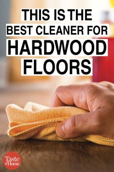 Hardwood floors require a bit of extra care and a gentle touch when it comes to cleaning. Find out what brand we named as the best hardwood floor cleaner. Best Hardwood Floor Cleaner, Best Floor Cleaner, Homemade Wood Floor Cleaner, Best Wood Flooring, Clean Hardwood Floors, Best Cleaner, Cleaners Homemade, Floor Cleaners, House Cleaning Tips