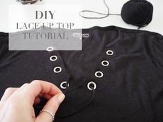 DIY Lace Up Top Tutorial