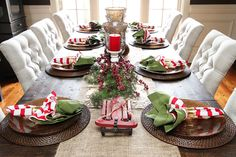 Christmas Home Tour. Decorations and Ideas for an open floor plan. KevinandAmanda.com