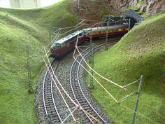 Modellbau Weber Spur, Model Trains, Railroad Tracks, Shelving, Miniatures, Layout, Model Train, Landscaping, Shelves