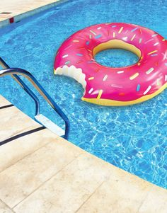 "A <a href=""http://amzn.to/1TXCtym"" target=""_blank"">donut pool float</a> that you may be tempted to take another bite out of."