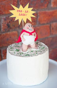 Captain Underpants Cake- Gotta ask mum if she'll make this for my birthday!!