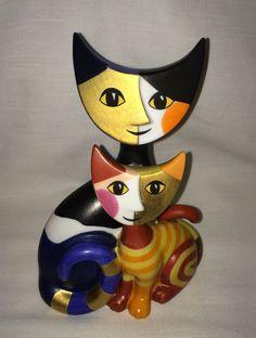 GOEBEL ROSINA WACHTMEISTER ROMEO AND JULIA LG CAT FIGURINE MIB 22155 KATZENPAAR