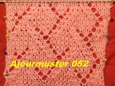 Karomuster Diamant Ajourmuster 052*Stricken lernen*Muster für Pullover*M...