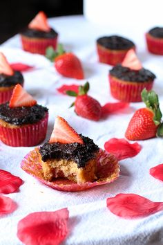 Eat Real Healthy Food | Chocolate Covered Strawberry Cupcakes | http://eatrealhealthyfood.com