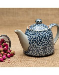 Blue Daisy Teapot - Japan