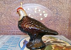Vintage 1970's Quail Wild Country Aftershave Decanter 5.5 oz.