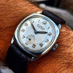 d3cb4e1cc2f Splendid Vintage Solid Silver Buren Grand Prix Wristwatch c.1960 w Original  Box!