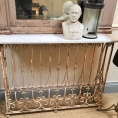 Wrought Iron Balcony Console Table c1900