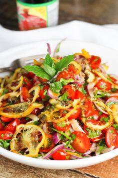 Tomato Lemon Salad!  Isn't this fresh and wonderful!