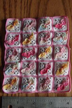 Dollhouse Miniature Variegated Butterfly Crochet Afghan... 15.00, via Etsy... yay, it's mine!