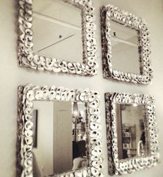 oyster shell mirrors - beach house decor - multiples for impact