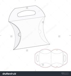 Pillow Box With Blueprint Layout Stock Vector Illustration 301345703 : Shutterstock