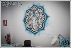 decoración de sala de piercing