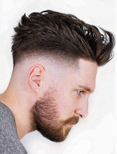 Faux Hawk Skin Fade When looking for a trendy new men's hairstyle for the skin fade haircut is your new best friend. Bringing to you [Skin Fade Haircut Insider] Mens Hairstyles With Beard, Hairstyles Haircuts, Haircuts For Men, Hairstyles Pictures, Black Hairstyles, Short Hair With Beard, Hair And Beard Styles, Short Hair Styles, Skin Fade With Beard