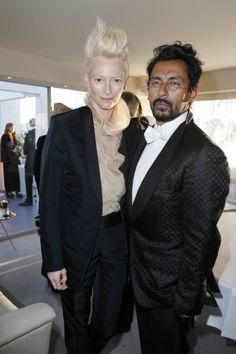 Tilda Swinton and Haider Ackermann, Liberatum and Montblanc reception for Only Lover's Left Alive, Cannes Film Festival 2013