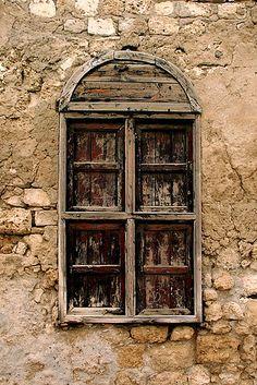Old wooden window in Suakin, Sudan