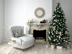 Add that elegant farmhouse chic touch to your space with our HUGE White Washed Antique Wall Medallion. This metal wall decor will look great in the engtry, living room, bedroom, or bathroom. Cozy Christmas, Beautiful Christmas, Christmas Trees, Christmas Presents, Christmas Room, Xmas Tree, Christmas 2019, Christmas Tree Decorations, Holiday Decor