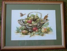 a vintage dutch completed cross stitch framed from marjolein bastin lanarte Marjolein Bastin, Cross Stitch, Frame, Painting, Vintage, Punto De Cruz, Dots, Embroidery, Picture Frame