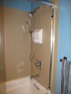 non-tile shower surround