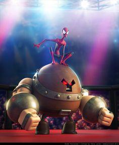 "Juggernaut vs Spider-Man ""Ultimate Hero"" by Andre Holzmeister °° gambling ..."
