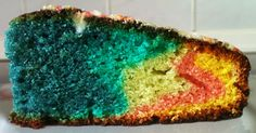 Rainbow Lemon Cake