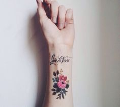 Rifle Paper Co. Inspired Tattoo