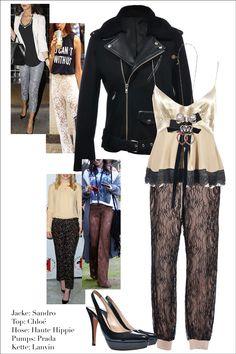 Filigrane Lochspitze, raffinierte Eleganz par excellence! #Sandro #Chloé #Lanvin #HauteHippie #Prada #mymint