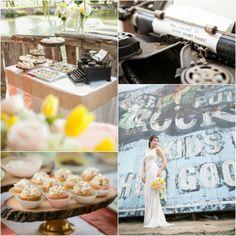 Typewriter Wedding Idea-Chic Barn Wedding #W101Nashville #StyleShoot #RusticWeddingChic