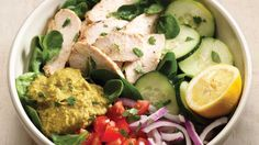 Power Chicken Hummus Bowl: recreate chicken hummus bowl for easy lunch or dinner