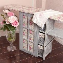 French Rose & Dove Grey Ironing Day Station  (Great idea for a sewing room in which ironing is always needed. Love it ! jen)