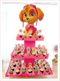 Divertida idea para aperitivo de una fiesta de cumpleaños de la Patrulla Canina.#Pawpatrol #party