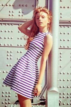 A twist on traditional black and white striped.. color!