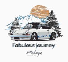 Fabulous Journey. Porsche 911 (white) by OlegMarkaryan