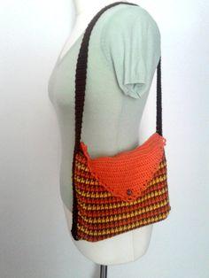 orange Ipad bag in multicolor crocheted with di IlmondodiTabitha, €35.00