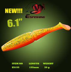 "Esfishing New Lure Soft Bait Big Easy Shiner 6.1"" 3pcs 15.5cm/30g Wholesale Soft Lure"