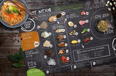 Меню для кафе Omnomnom (Полиграфический дизайн) - фри-лансер Elena Zhabko [elenazhe].