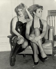 1966- Kim Christie and friend