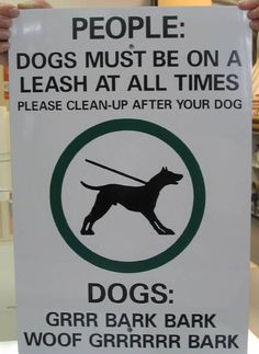 Best dog park sign... ever.