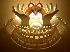kirigami arquitectura  love &  peace